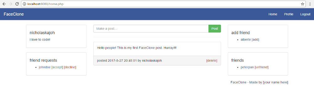 Build a Facebook clone from scratch with PHP — Part 1